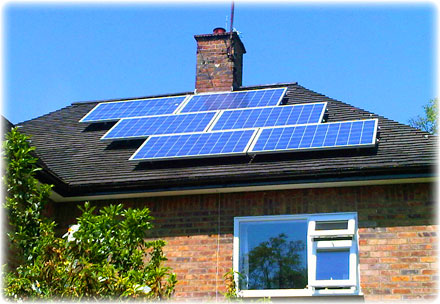 House with solar pv panels