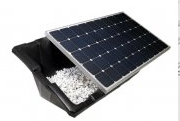 Flat roof solar panel system
