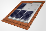 In-roof solar panel frame