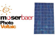 Moser Baer Solar Panel Installation