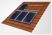 On-roof solar panel frame
