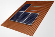 On-roof industrial panel frame