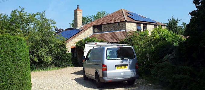 Solar PV on a domestic building